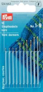 Stopfnadeln kurz ST 1-9 silberfarbig