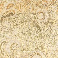 Lurex Jacquard Stoff Paisley Ornament goldfarbig silberfarbig 001