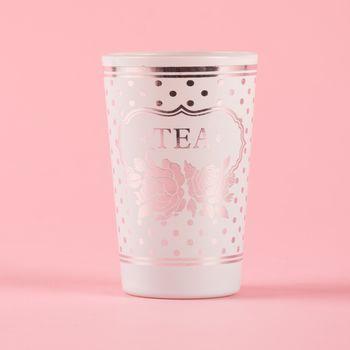 Clayre & Eef Trinkglas TEA 10x5cm – Bild 1
