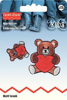 Prym Applikation Teddybär 2 Stück 3,5x4cm 2x2cm