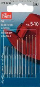 Prym 16 Modistennadeln No.5-10 silberfarbig