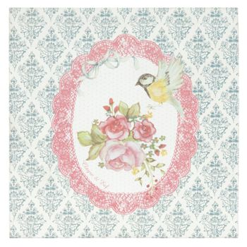 Bilder MDF Vogel Rose Ornament 30x30x3cm – Bild 4