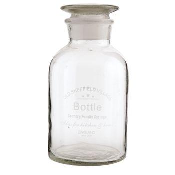 Clayre & Eef Deko Vase Flasche Glas BOTTLE 21x10cm – Bild 4