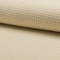 Bekleidungsstoff Waffelpique Baumwolle uni creme 1,50m Breite