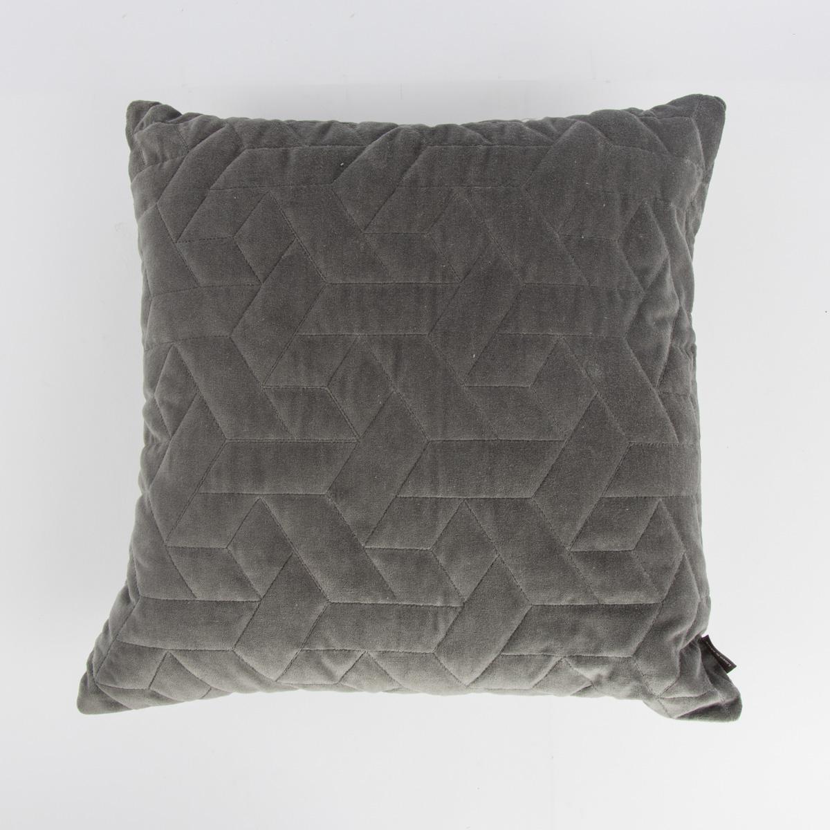 velourskissen samtkissen cube rechtecke grau 45x45cm wohntextilien kissen pl schkissen. Black Bedroom Furniture Sets. Home Design Ideas