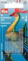 Prym 16 Sticknadeln No.3-9 silberfarbig 001