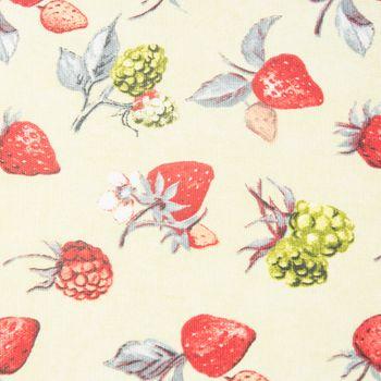 Schöner Leben Kissenhülle Erdbeere Brombeere grün rot 50x50cm – Bild 2