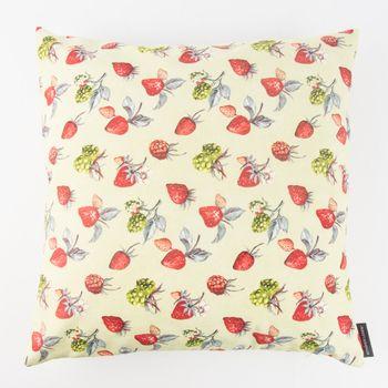 Schöner Leben Kissenhülle Erdbeere Brombeere grün rot 50x50cm – Bild 1