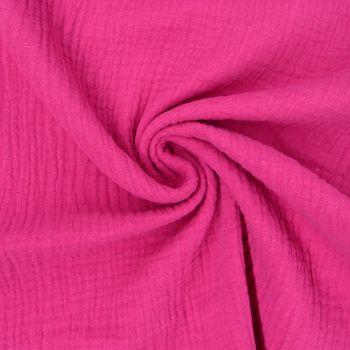 Bekleidungsstoff Double Gauze Musselin Windelstoff einfarbig pink
