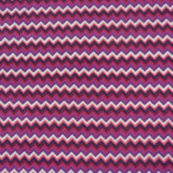 Fleece Stoff Polar Fleece Chevron Zacken pink lila weiß – Bild 2
