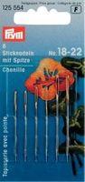 Prym Sticknadeln mit Sp. ST 18-22 silberfarbig 001