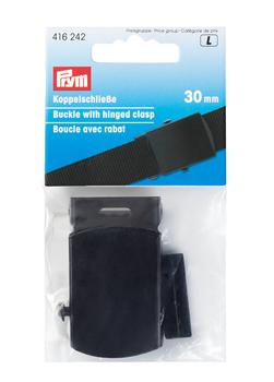 Prym Koppelschließe Gürtelschließe schwarz Metall 30mm