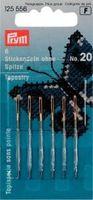 Prym 6 Sticknadeln ohne Sp. ST 20 silberfarbig 1,00x43mm 001