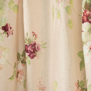 Brigitte von Boch Dekostoff Leinen-Viskose Meterware Fleur de réve Rosen lachs rosa 140cm – Bild 4