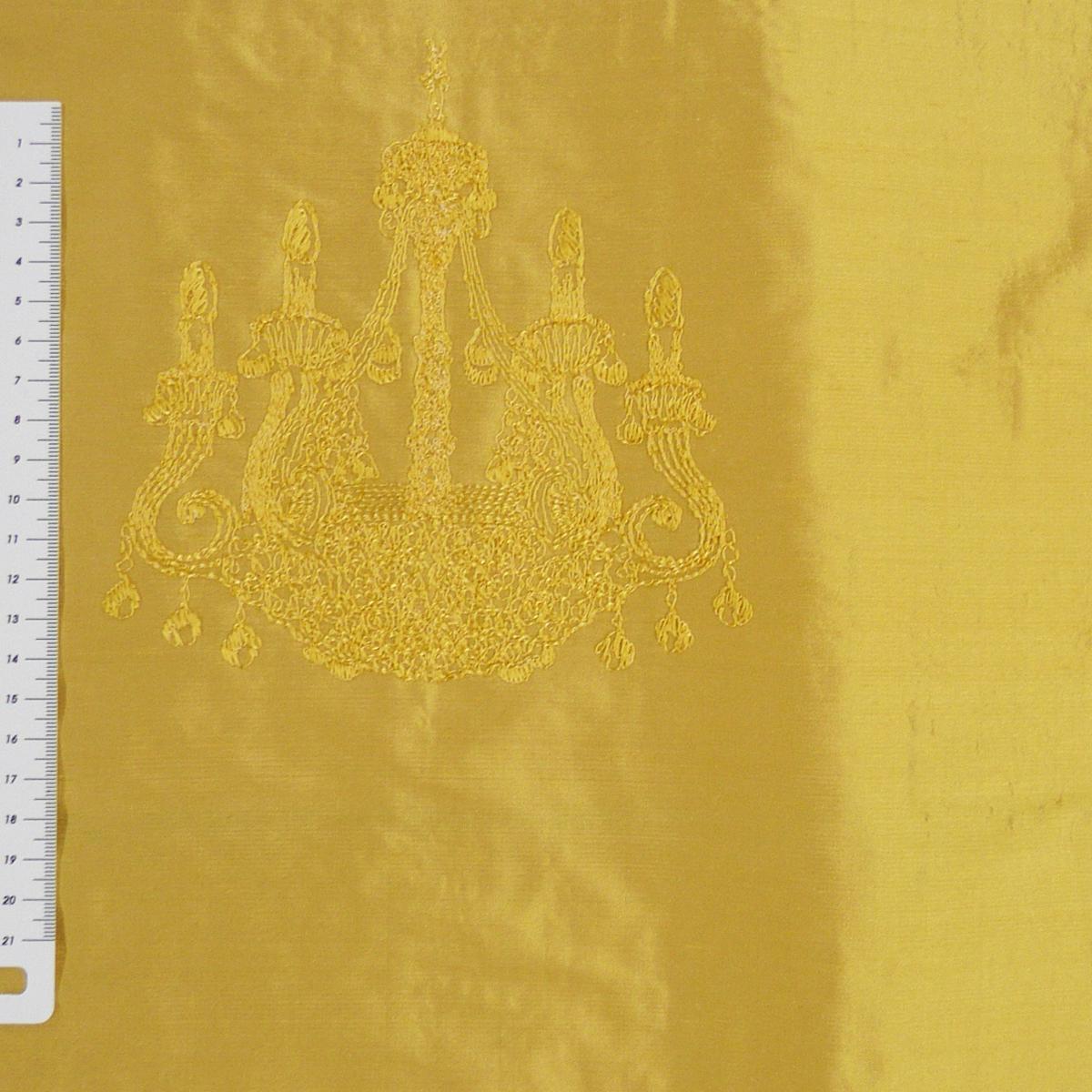 brigitte von boch seidenstoff dekostoff 100 seide bestickt meterware kandelaber silk leuchter. Black Bedroom Furniture Sets. Home Design Ideas
