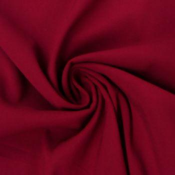 Bekleidungsstoff Viskose-Jersey Rosella uni dunkelrot 1,40m Breite