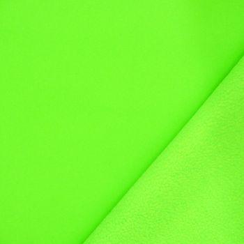 Bekleidungsstoff Softshell Fleece neon grün