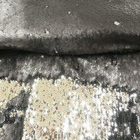Paillettenstoff Streichpailletten-Stoff Farbwechsel-Stoff schwarz glanz matt 1,25m Breite 001