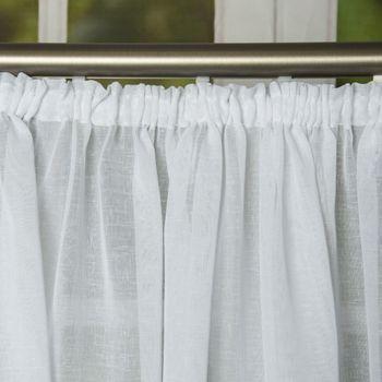 Fertiggardine Fertig-Stores mit Band transparent weiß – Bild 1