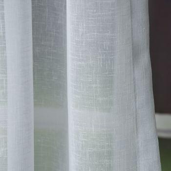 Fertiggardine Fertig-Stores mit Band transparent weiß – Bild 2