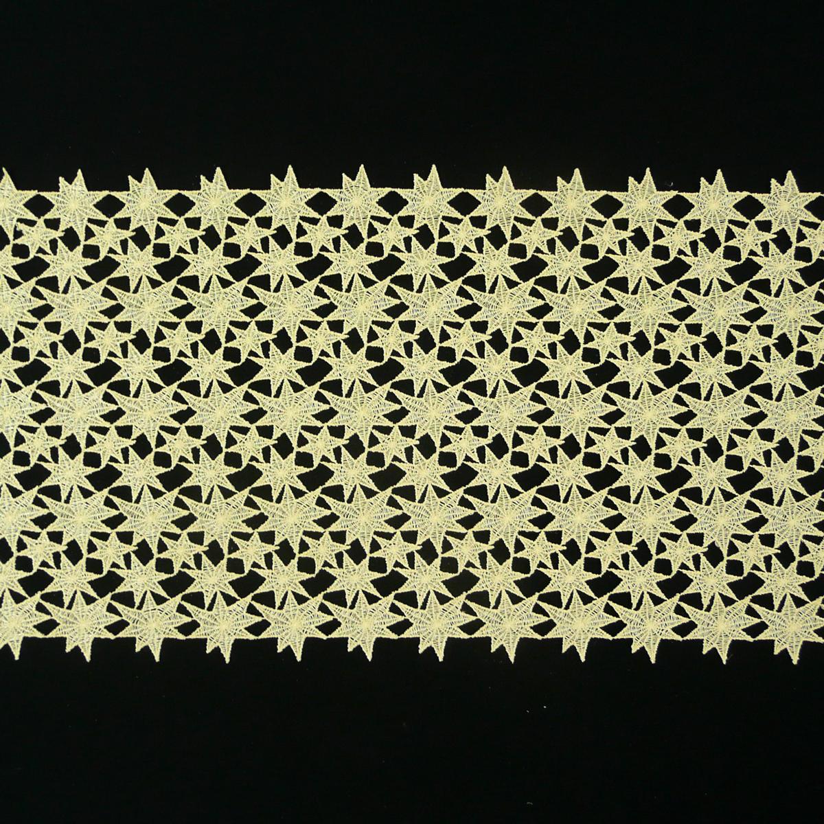 borte spitzenborte tischl ufer sterne goldfarbig meterware breite 40cm n hzubeh r b nder borten. Black Bedroom Furniture Sets. Home Design Ideas