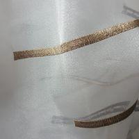 Rasch Organza Gardinenstoff Stickerei Meterware Reflection Stores Streifen weiß grau schwarz antikgold 280cm 001