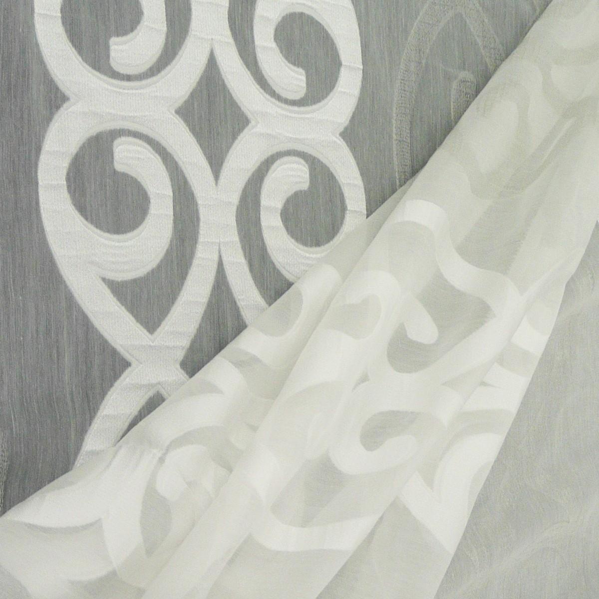 rasch stores gardinenstoff meterware anthemion ornamente wei grau 290h gardinenstoffe. Black Bedroom Furniture Sets. Home Design Ideas