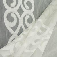 Rasch Stores Gardinenstoff Meterware Anthemion Ornamente weiß grau 290h 001