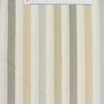 Rasch Dekostoff Gardinenstoff raumhoch Meterware Meadow Streifen natur beige grau 300cm – Bild 1