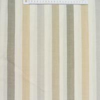 Rasch Dekostoff Gardinenstoff raumhoch Meterware Meadow Streifen natur beige grau 300cm 001