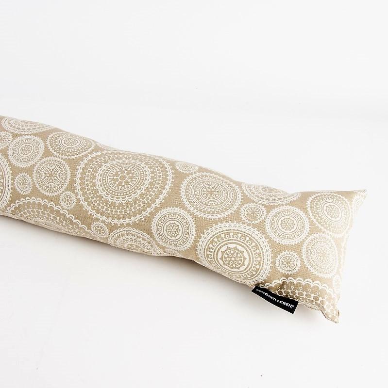 zugluftstopper blumen mandala kreise natur wei 80 bis 130cm lang ebay. Black Bedroom Furniture Sets. Home Design Ideas