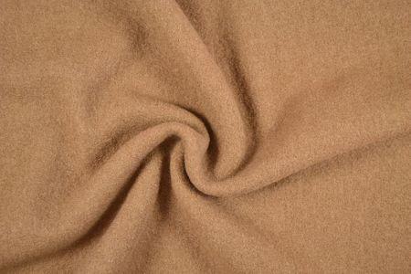 Bekleidungsstoff Walkloden Wolle Meterware hellbraun – Bild 2