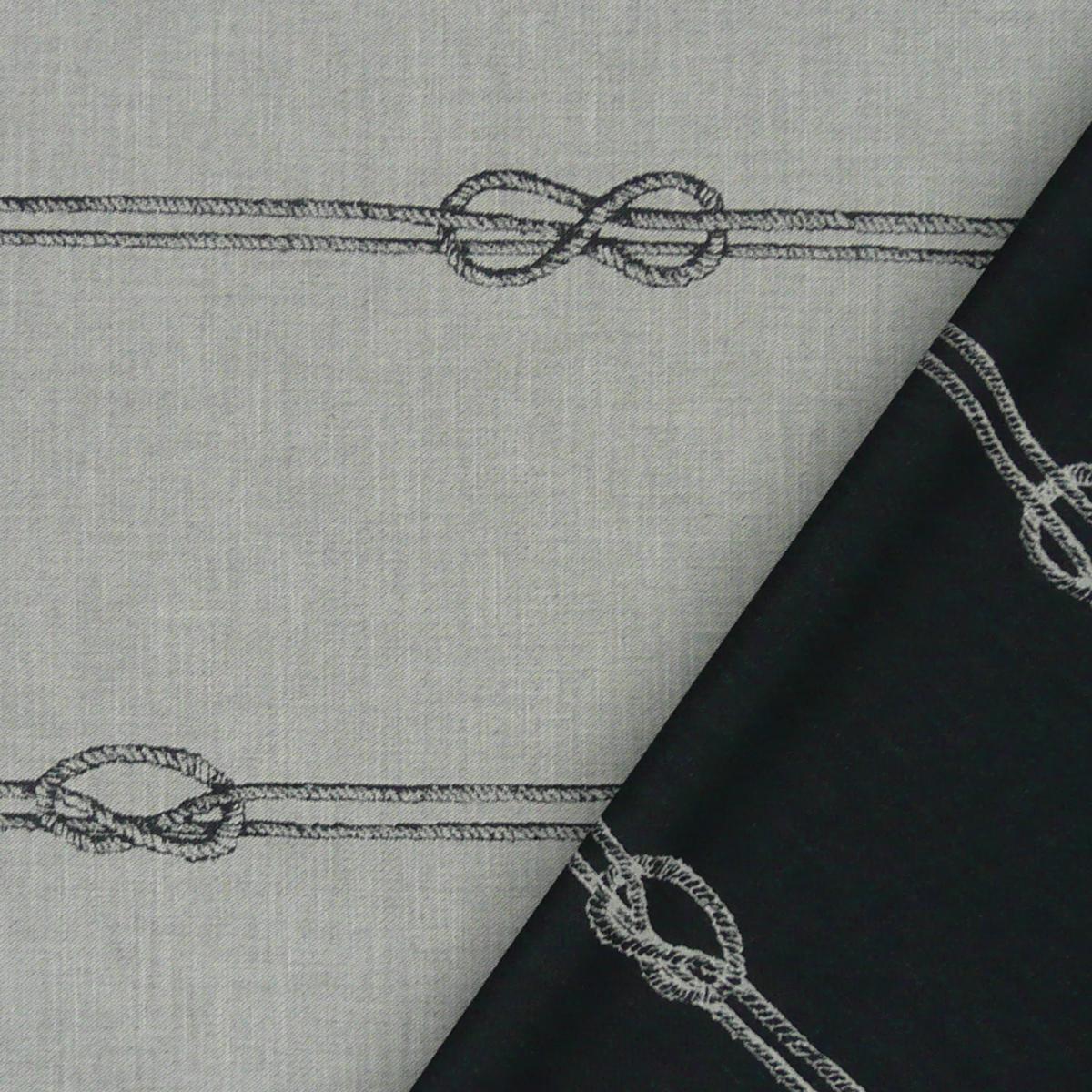 Rasch Dekostoff Vorhangstoff Wendestoff raumhoch Sailor´s Stripe grau 308cm