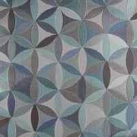 Möbelstoff Polsterstoff AURA Retro-Blumen blau grau petrol 1,40m Breite