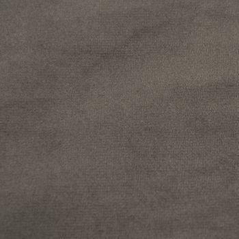 Samtstoff Dekostoff Italian Velvet Samt grau 1,45cm – Bild 2