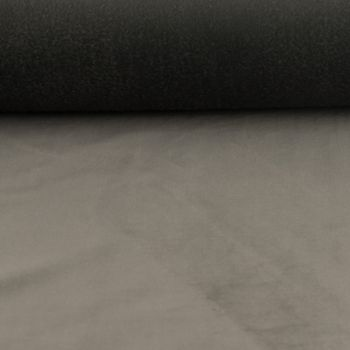 Samtstoff Dekostoff Italian Velvet Samt grau 1,45cm – Bild 3