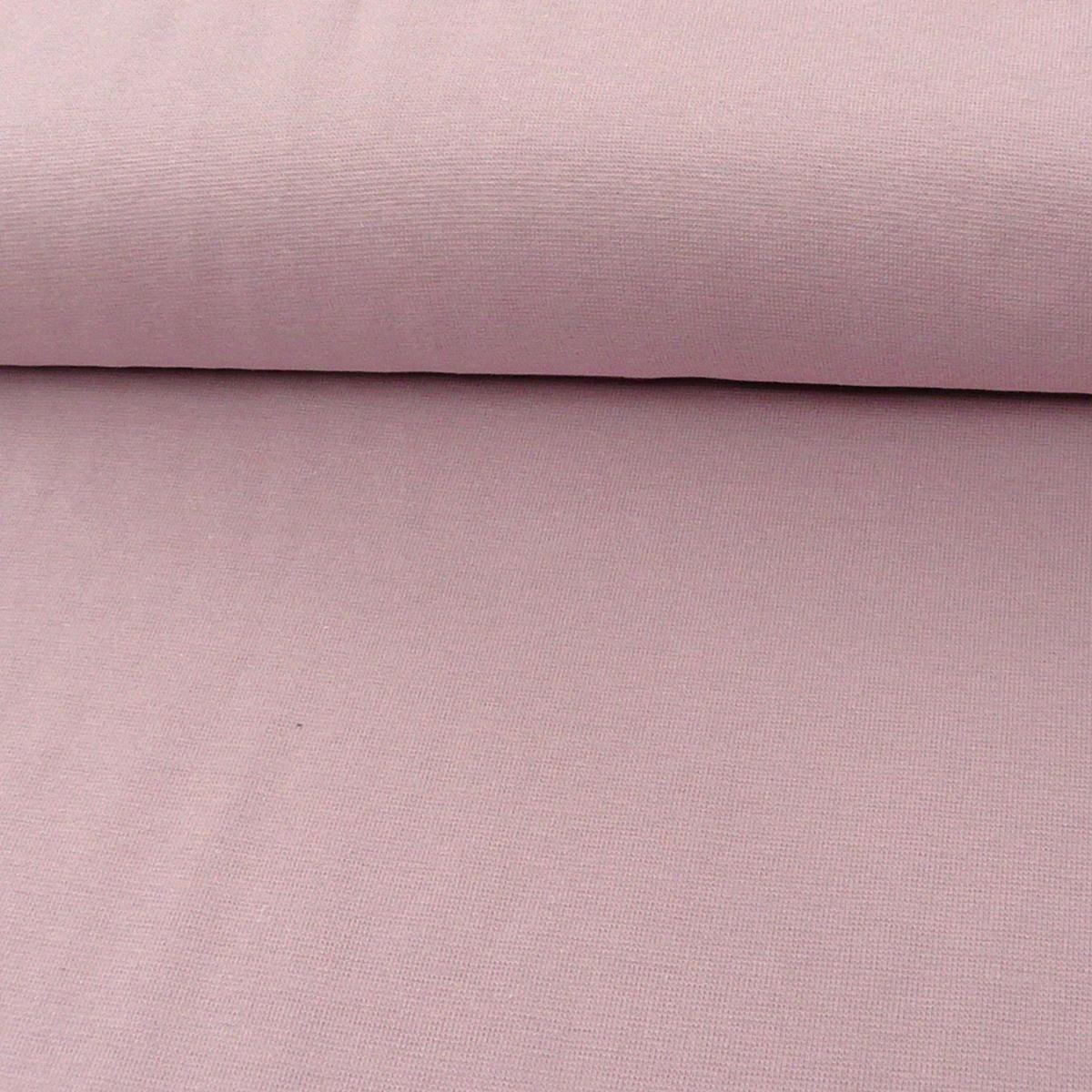 Kreativstoff Strickschlauch Bündchenstoff fein altrosa 37cm Breite
