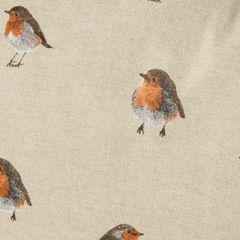 Schöner Leben Kissenhülle Vogel Rotkehlchen natur braun 40x60cm – Bild 2