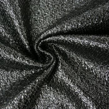 Schlangenhaut Optik Metallic Stoff schwarz 1,4m Breite