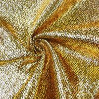 Schlangenhaut Optik Metallic Stoff goldfarbig schwarz 1,4m Breite 001