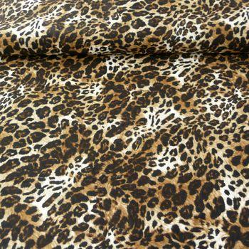 Polyamid Stoff elastisch Leopard braun 1,4m Breite