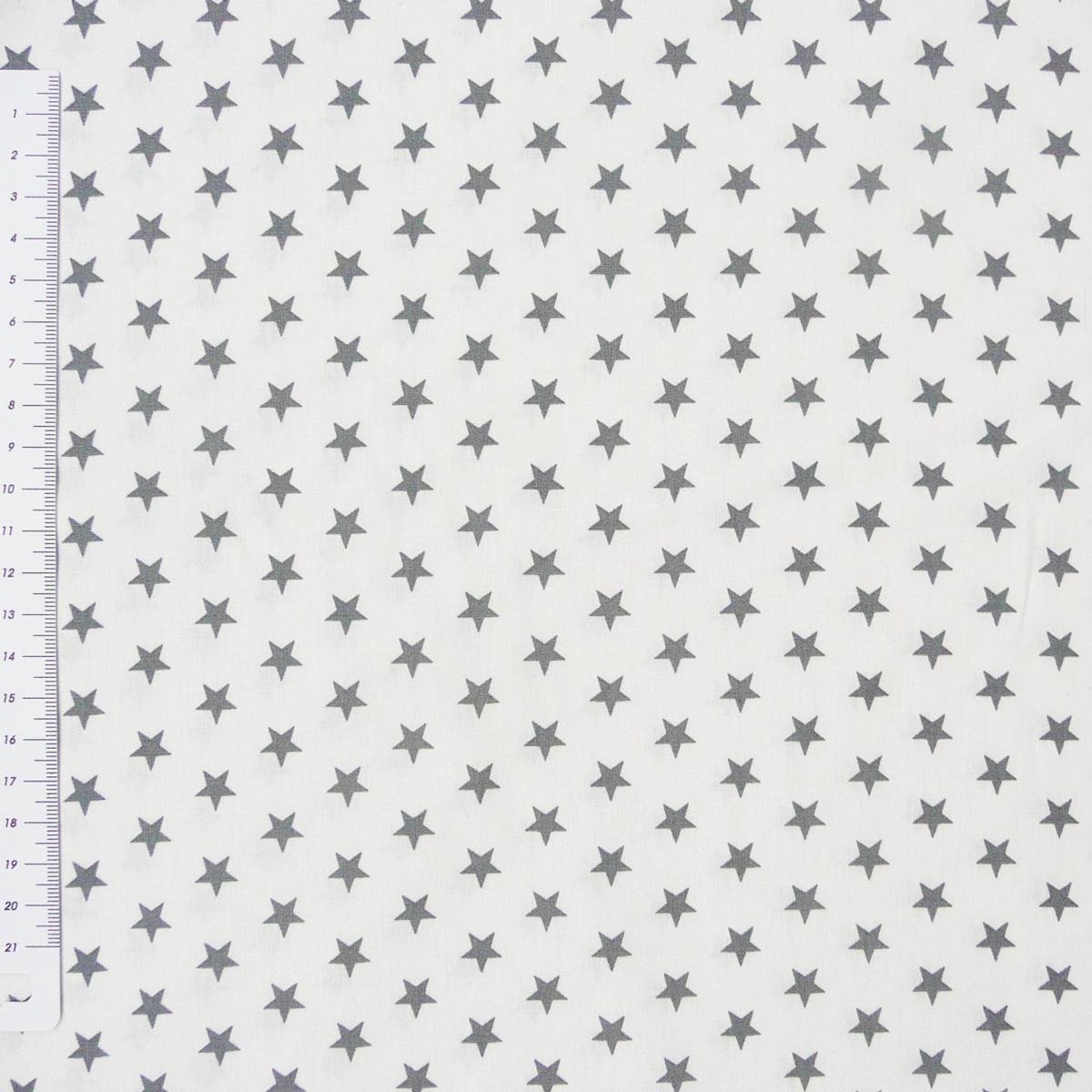 baumwollstoff sterne wei grau stoffe stoffe gemustert stoff sterne. Black Bedroom Furniture Sets. Home Design Ideas
