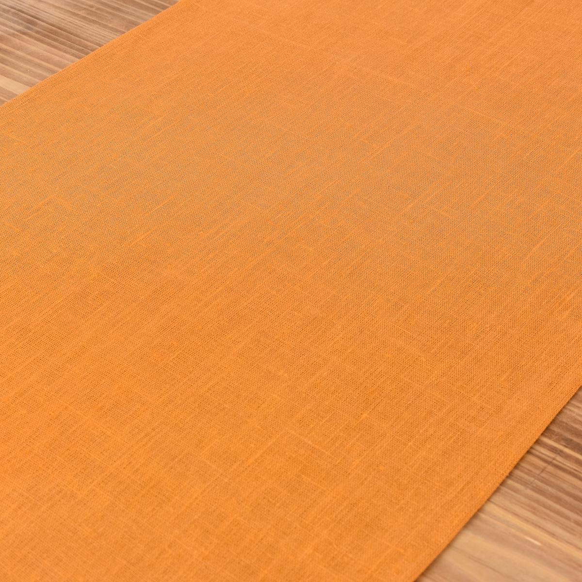 leinentischl ufer tischl ufer erik 1 lagig 47x150cm dunkelgelb ocker inspirationen stilwelten. Black Bedroom Furniture Sets. Home Design Ideas