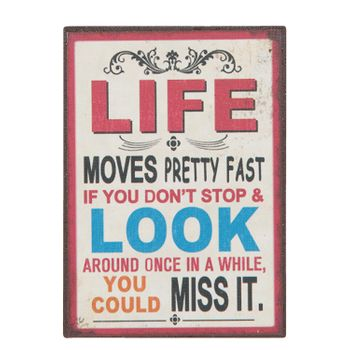 Clayre & Eef Magnet LIFE MOVES 5x7cm
