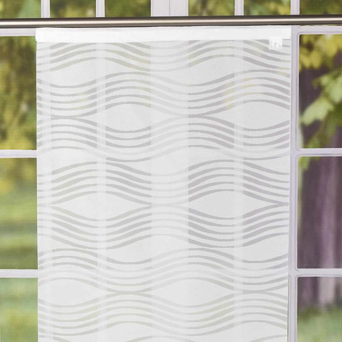 Schiebevorhang Flächenvorhang Donna Wellen Weiß 245x60cm Schöner Leben Dein Lieblingsladen Im Netz