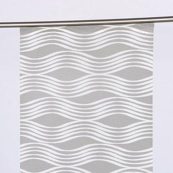 Schiebevorhang Flächenvorhang Scherli DONNA Wellen grau weiß 245x60cm – Bild 1