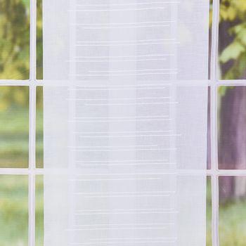 Schiebevorhang Flächenvorhang UNO weiß Fäden 245x60cm – Bild 2