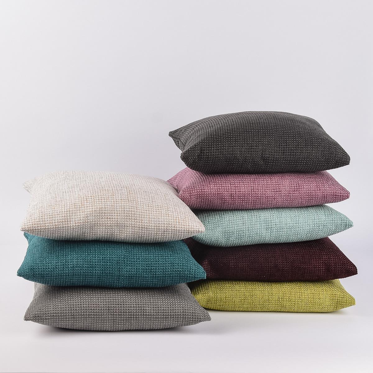 kissenh lle dallas t rkis 50x50cm wohntextilien kissen klassisch uni. Black Bedroom Furniture Sets. Home Design Ideas