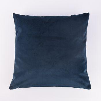 Kissenhülle Duval Samtkissen dunkelblau 50x50cm – Bild 1
