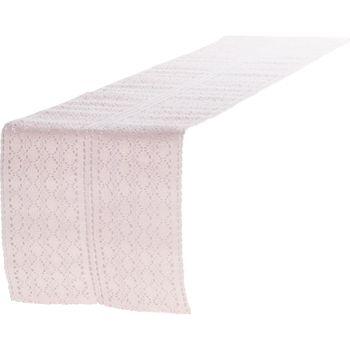 Tischläufer Mirthe Häkel rosa 30x140cm